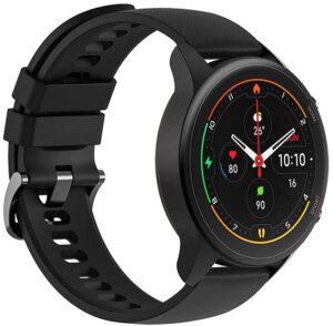 【日本正規代理店品】Xiaomi Mi Watch Miスマートウォッチ スポーツフィットネス腕時計 32g軽量設計 GPS運動記録 着信通知 (ブラック)