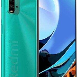 【日本正規代理店品】Xiaomi Miスマホ Redmi9T 4GB+64GB スマートフォン本体 SIMフリー 4800万画素 携帯電話 4眼カメラ大容量6000mAh 3.5mmスマートフォンイヤフォンジャック AI顔認証 (グリーン)