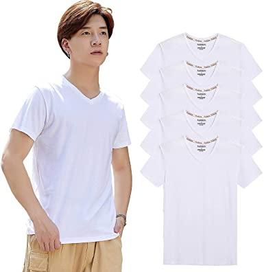 インナーシャツ メンズ tシャツ 半袖 Vネック 肌着 5枚組 綿100% tシャツ セット