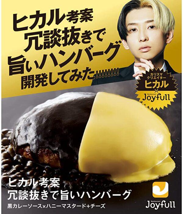 ヒカル 考案 冗談抜きで旨い ハンバーグ (120g) 黒カレーソース×ハニーマスタードチーズ 6個入り 冷凍