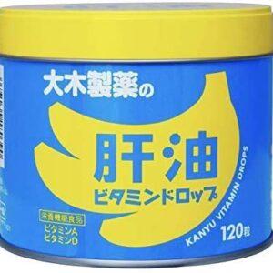 【2缶】大木製薬 肝油ビタミンドロップ 120粒x2缶
